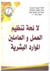 لائحة تنظيم العمل و العاملين-01